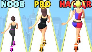 Yüksek Topuklarda HACKER vs PRO vs NOOB!