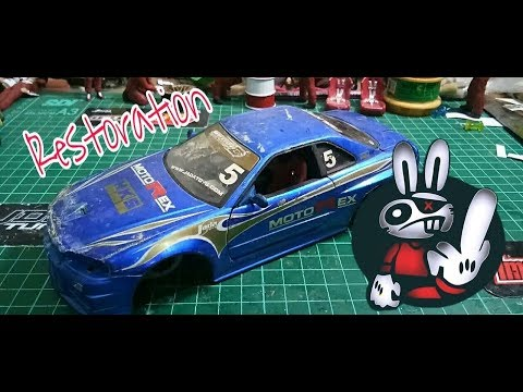 Restoration Time!!! Junk Nissan GTR34 Motorex Tribal Option D-Import Racer, Jada Toys scale 1/24