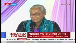 Miradi ya beyond zero: Mke wa rais azindua mbio za marathon