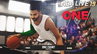 NBA LIVE 19 THE RISE EP 3 - NEW CUSTOM THE ONE COURT! | Wing Scorer