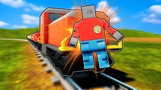 LEGO TRAIN STOPPING DISASTER?! (Brick Rigs Gameplay Roleplay) Lego Train Crashes & Lego Creations!