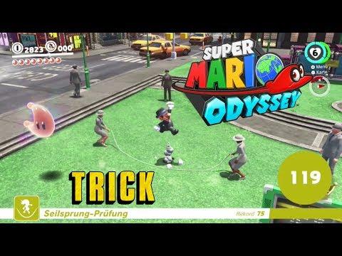 , title : 'Super Mario Odyssey 🌏 [German/Trick] 🌙 Seilspringen - 100 Sprünge leichter schaffen'