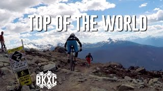 Riding Top of the World down to the Whistler Bike Park.