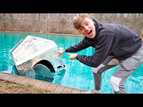 METAL BOX FORT ON WATER!! (SINK OR FLOAT?)
