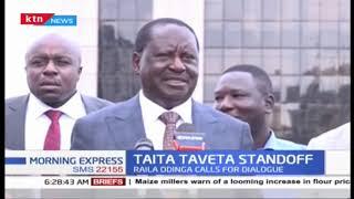 Raila Odinga seeking resolution over Taita Taveta County standoff