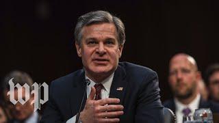 WATCH: Head of FBI testifies in House hearing on threats to U.S.