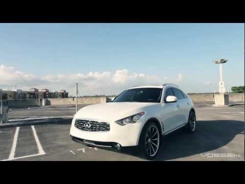 "Infiniti FX on 22"" Vossen VVS-CV1 Concave Wheels / Rims"