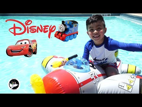 Disney Swimming Pool and Family Fun Kids Playtime with Giant Inflatable Float for Children