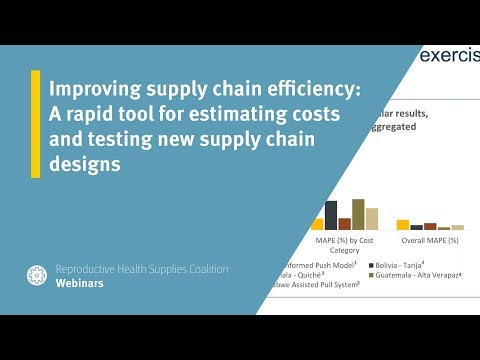Improving supply chain efficiency: A rapid tool for estimating costs and testing new supply chain designs