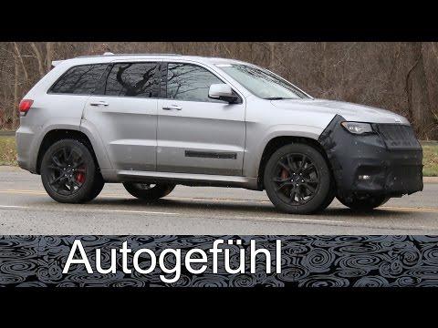 Jeep Grand Cherokee Trackhawk Hellcat spy shots camo car Erlkönig all-new neu