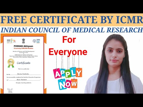 Indian Council of Medical Research Certificate Courses/ Medical ...