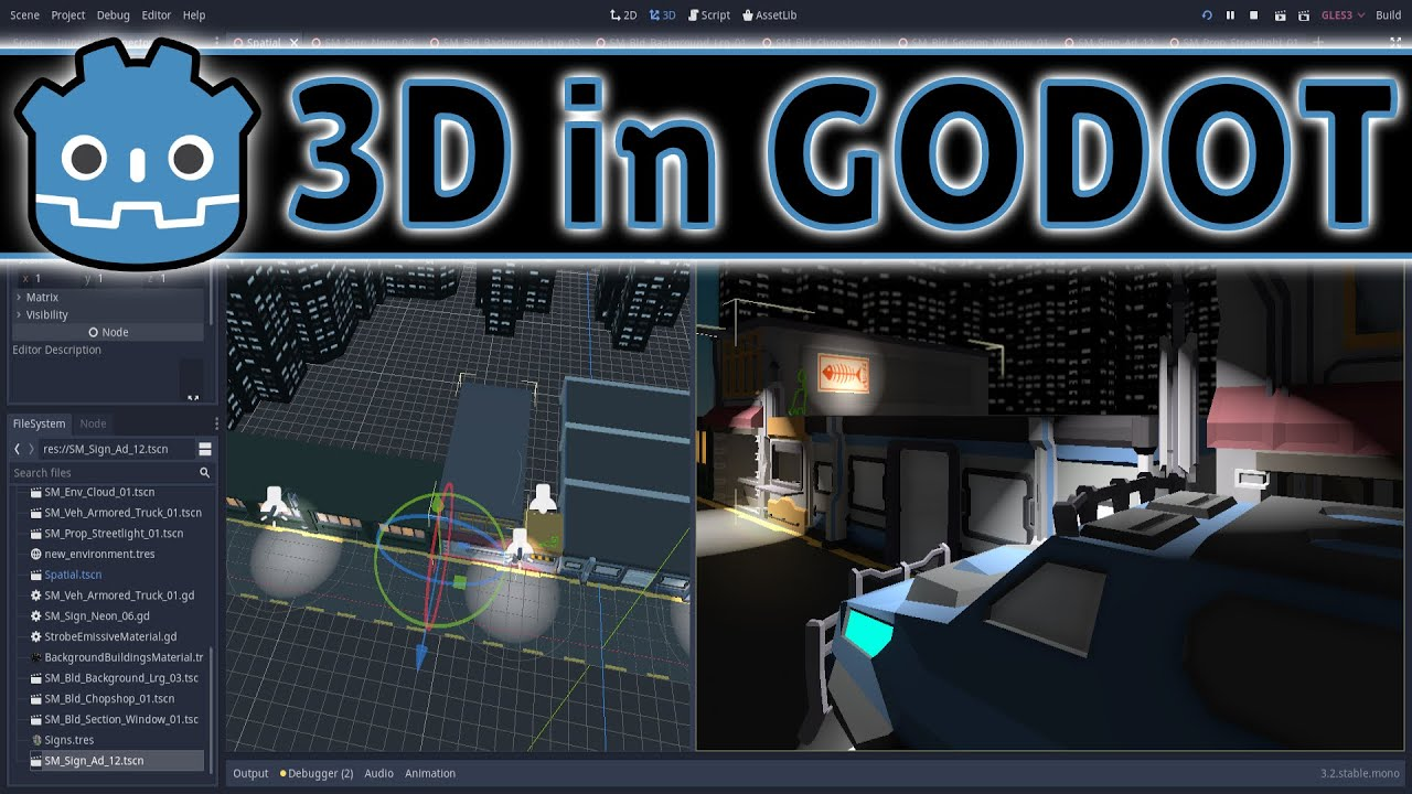 3D in Godot -- Creating 3D Levels (An Informal Tutorial)