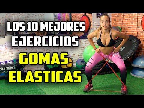 Los 10 Mejores EJERCICIOS GOMAS ELÁSTICAS    PARA CHICAS