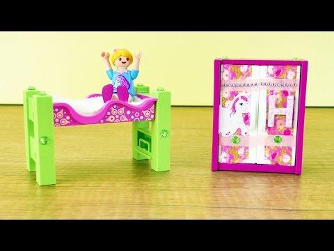 Playmobil BETT und SCHRANK schön machen | Hannah Vogels Zimmer bekommt einen neuen Look | Basteln