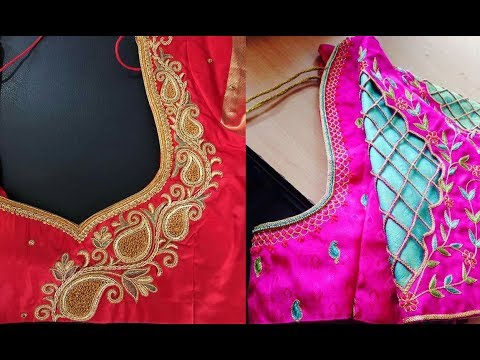 Simple Embroidery Work Blouse Design Patterns Party Wear Blouse