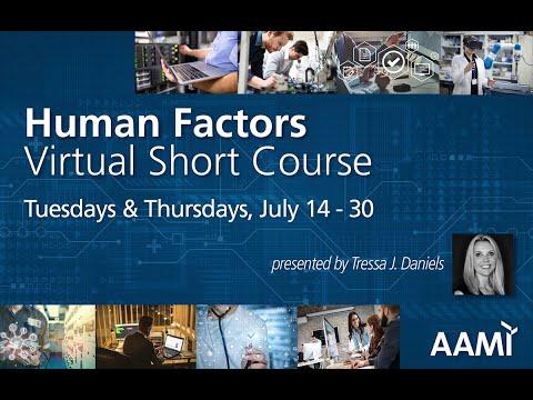 Join our Human Factors Virtual Short Course with Tressa J. Daniels ...