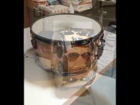 "making a 14'x 7"" stave snare drum picture video"