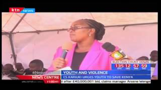 CS Sicily Kariuki urges youth to stay away from negative and divisive politics