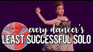 each dance moms dancer's least successful solo!