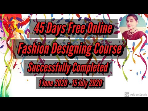 Free Fashion Designing Online Courses With Certificate Class 45 ...