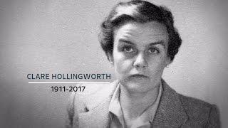 Journalist who broke news WWII had started dies aged 105
