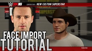 WWE 2K16: How to Import Your Face Photo (Video Tutorial)