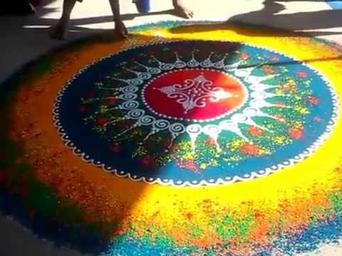 beautiful rangoli design by kshama bade