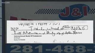 Business owner warning of check fraud scheme