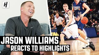 Jason 'White Chocolate' Williams Reacts To His NBA Highlights! | The Reel