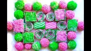 Soap Balls Asmr\ Crispy little curls\ Very satisfying crunch\ Cubes
