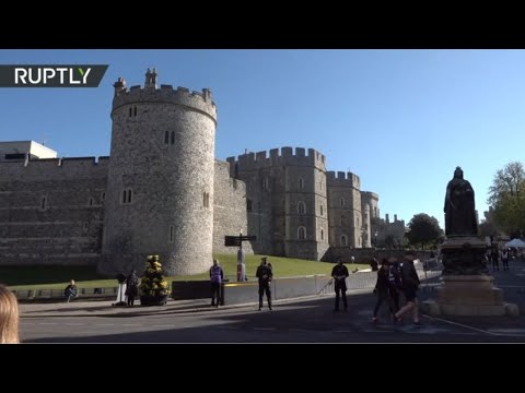 Live from Windsor Castle where Prince Philip's funeral will take place