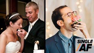 Single People Re-Create Wedding Photos • Single AF