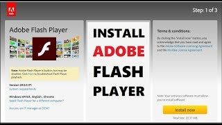 How to Install Adobe Flash Player on Windows 10/8/7 | Updated 2018