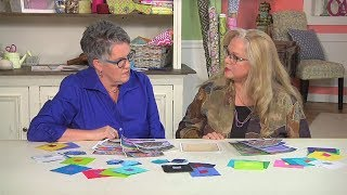 Susan Brubaker Knapp interviews Luana Rubin about trends at the 2018 Festival of Quilts in Birmingham, England on Quilting Arts TV #2303.