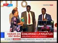 Rt. Hon. Raila Odinga blows horn at the 5th Devolution Conference