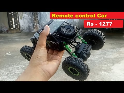 remote control car  rock crawler rc car under 1600  – unboxing and review