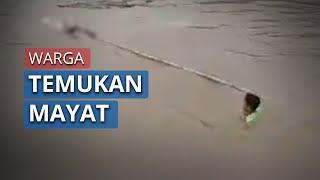 Video Mayat Perempuan Bertato Terbungkus Karung Hanyut di Sungai Kabupaten Pinrang