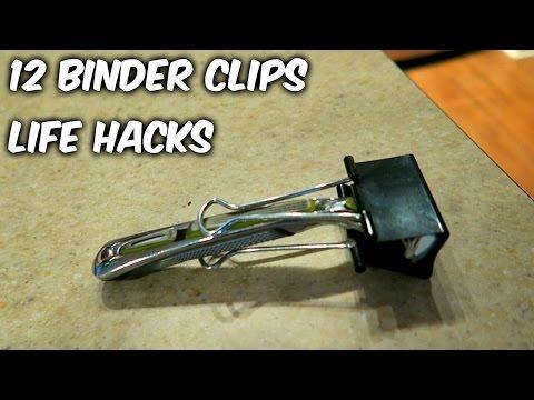 12 Binder Clips Life Hacks