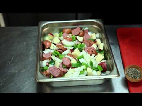 Video Kielbasa, Onion, Potato & Olive Oil Casserole : Full Meal Recipes