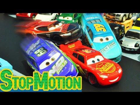 Disney Cars 3 : Lightning McQueen's Racing!  - StopMotion