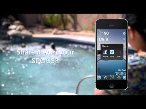 LilyPad, the first smart Bluetooth pool thermometer and UV sensor connected to your smartphone