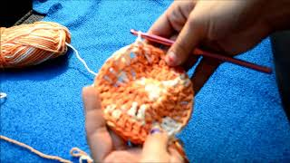 Round Crochet Dishcloth