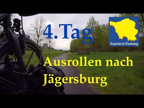 Radreise   4.Tag Unterwegs auf dem Saarland Radweg   Ausrollen nach Jaegersburg