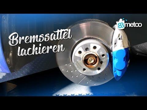 83metoo - Bremssattel lackieren Anleitung mit Foliatec Bremssattel Lack