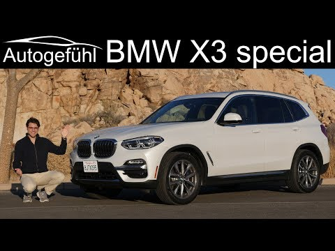 BMW X3 30i xDrive FULL REVIEW US spec with scenic Joshua Tree National Park & Mulholland Drive