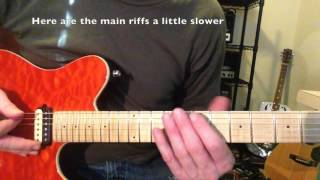 How to play Earache My Eye, A simple lesson for guitar