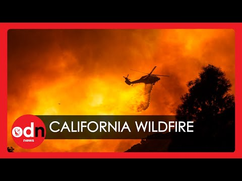 Huge Wildfire Erupts Across Southern California Prompting 500 Homes to be Evacuated
