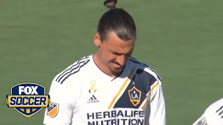 Zlatan converts from the spot to give Galaxy 1-0 lead | 2018 MLS Highlights | Kholo.pk