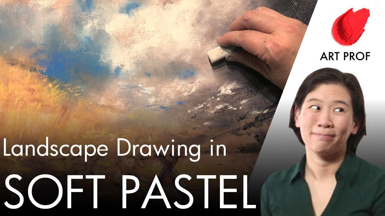 Как нарисовать нежный пастельный пейзаж