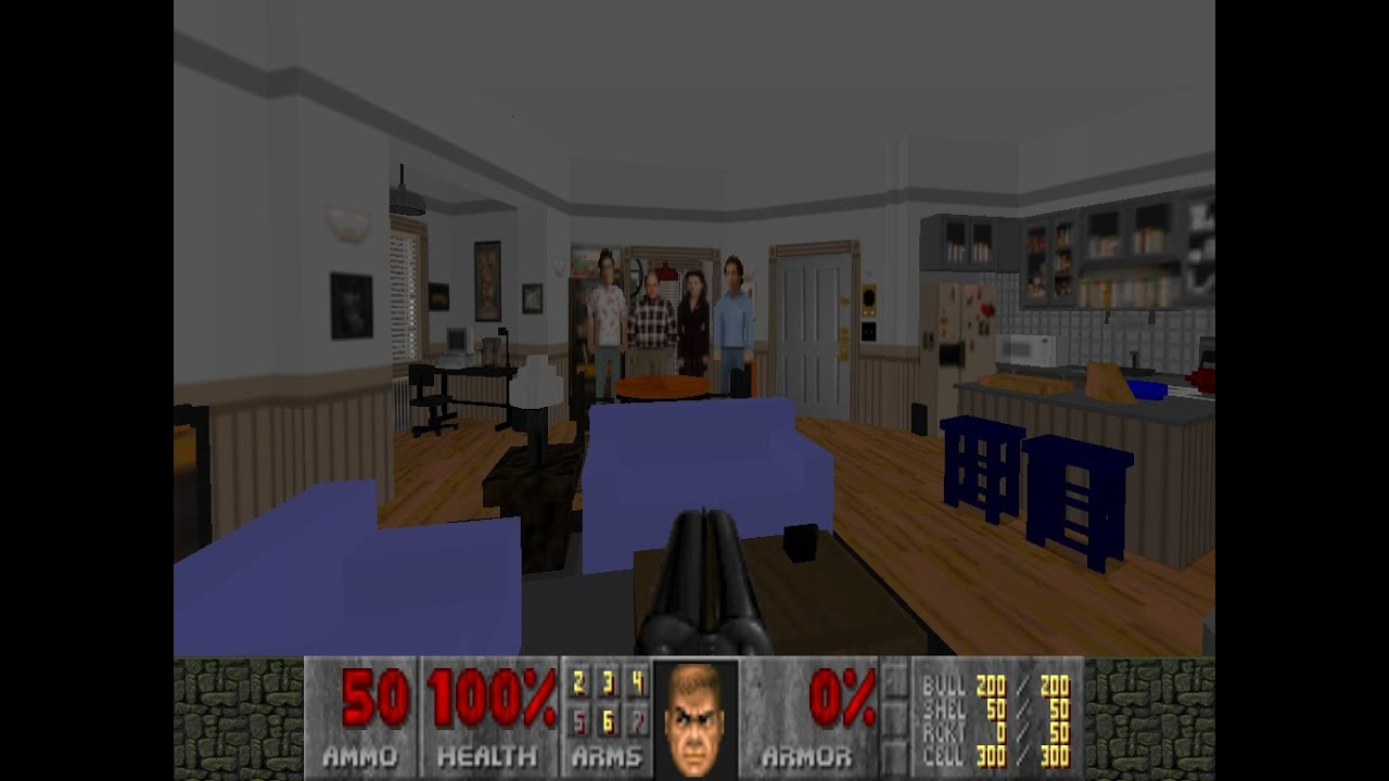 Seinfeld's Apartment Recreated In Classic Doom